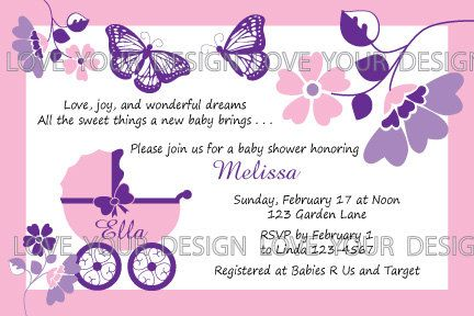 Monarch Butterfly Buggy Baby Shower  Invitation  by LoveYourDesign, $15.00