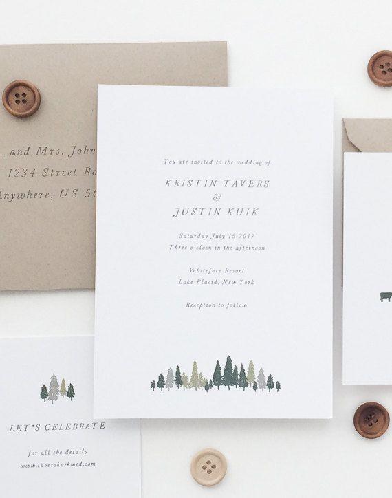 INVITATION SAMPLE Kristin Simple Wedding by augustandwhitedesign