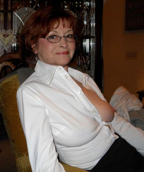 55 year old ranch milf flashes big tits 7
