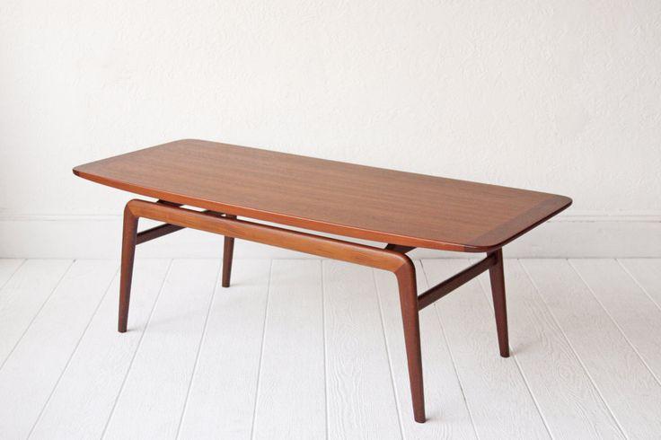 Large Teak Scandinavian Modern Coffee Table