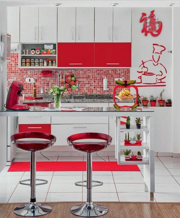 die besten 17 ideen zu rote k chenw nde auf pinterest. Black Bedroom Furniture Sets. Home Design Ideas