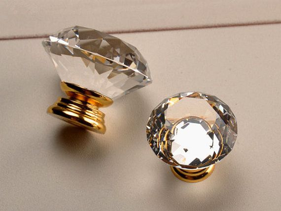 crystal door knobs with lock walmart for cabinets dresser gold drawer