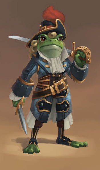 Perfect picture for my Grippli Glenda Swampsting! -- July 2015 Pirate101 Newsletter | Pirate101 Free Online Game