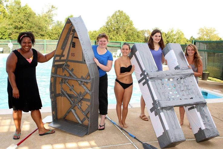 "Faculty Upsets Student Engineers  in Foxcroft Cardboard Boat Race --- Foxcroft School's Engineering Class always opens the semester by learning about the ""engineering cycle"" they will use to propose, design and com... -  #foxcroft"