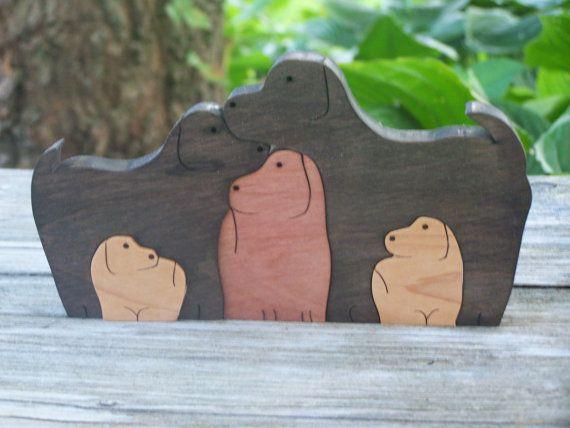animali puzzle legno 5 cani sega taglio di BasketsByDebi su Etsy, $18.50