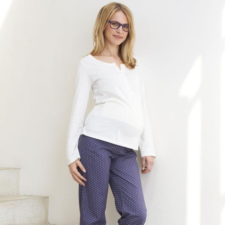 Pyjama allaitement et grossesse pur coton (20 euros en promo)