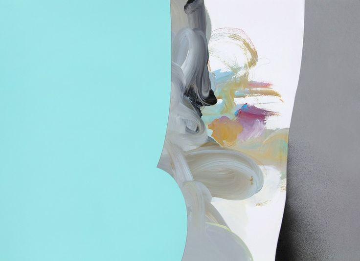 "Saatchi Online Artist: Ryan Coleman; Acrylic 2013 Painting ""Eclipse(Tiffany Blue)"""