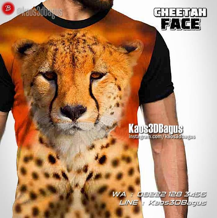 Kaos CHEETAH, Kaos3D, Cheetah Face, Kaos HARIMAU, Kaos Macan Tutul, Leopard, https://kaos3dbagus.wordpress.com, WA : 08222 128 3456, LINE : Kaos3DBagus
