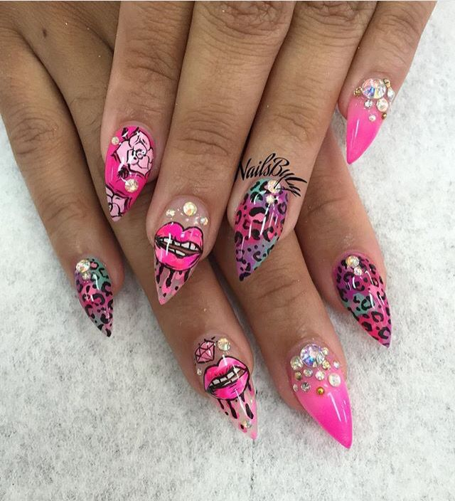 38 best lips kisses nail art ideas images on pinterest nail see more prinsesfo Images