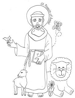 Happy Feast Day of St. Francis! Coloring Page