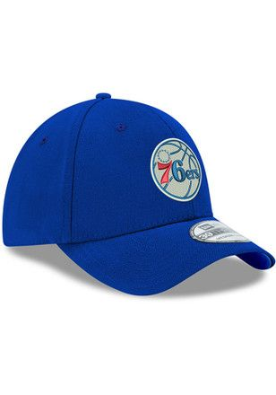 29a6200466b New Era Philadelphia 76ers Mens Blue Team Classic 39THIRTY Flex Hat ...