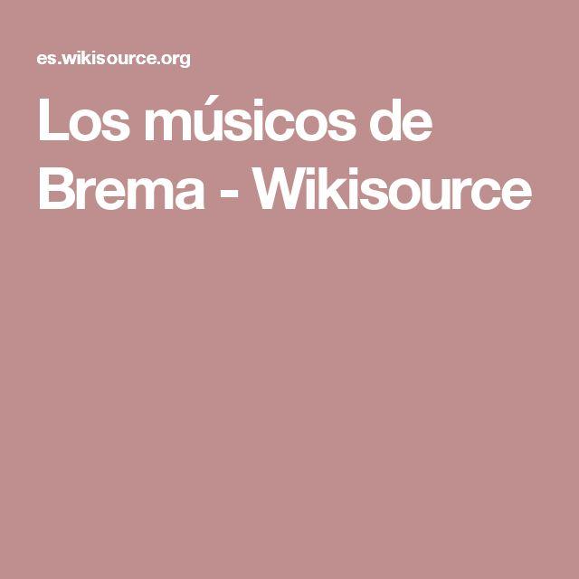 Los músicos de Brema - Wikisource
