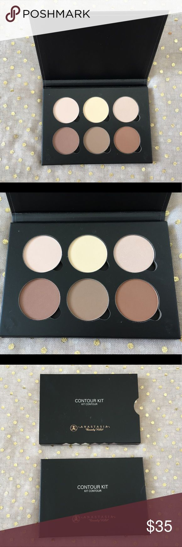 Anastasia Contour Kit New with complete packaging. Never used or swatched. Anastasia Contour Kit in Light to Medium. Shades: Vanilla, (pale cream), Banana (pale yellow), Sand (radiant chiffon), Java (mocha), Fawn (tawny), and Havana (warm russet) Anastasia Beverly Hills Makeup Face Powder