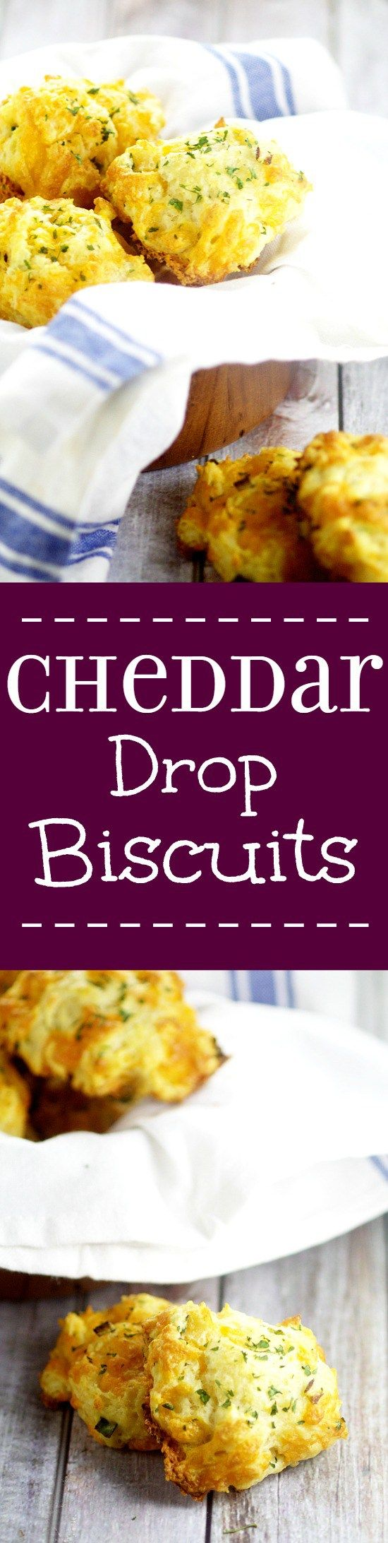 Easy, cheesy Cheddar Drop Biscuits