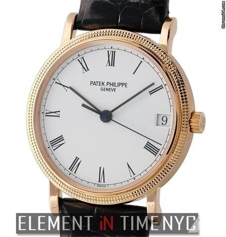 Patek Philippe Calatrava 18k Rose Gold Hobnail Bezel 33mm Automatic Ref. 3802R Price On Request