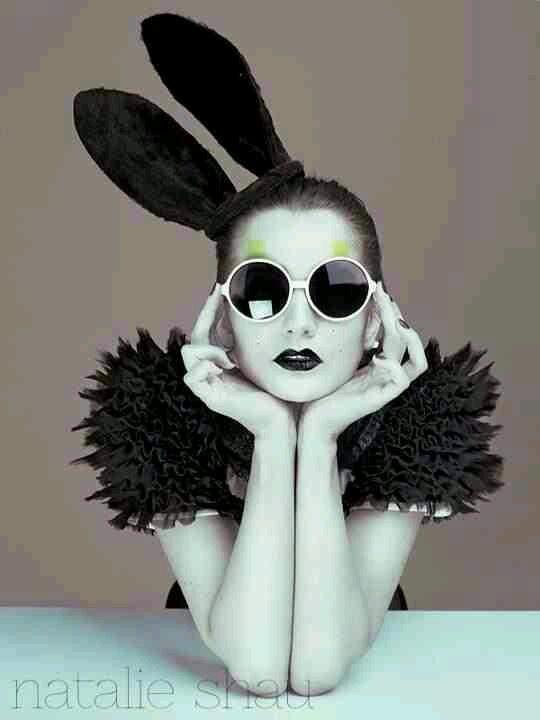 Black bunny ears