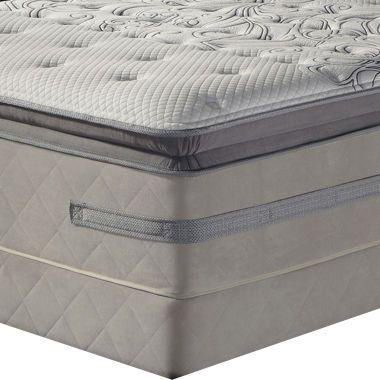 sealy enthusiasm euro pillowtop hybrid mattress box spring found
