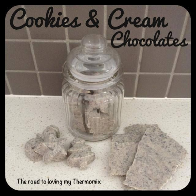 Cookies & Cream Chocolates - The Road to Loving My Thermo Mixer