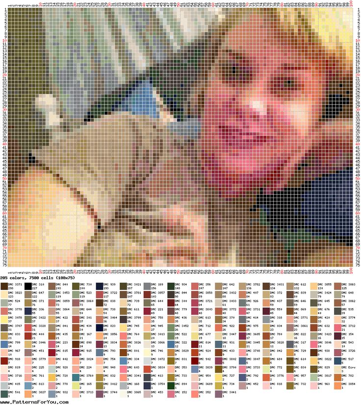 This website turns any picture into a cross stitch or bead work pattern for you!