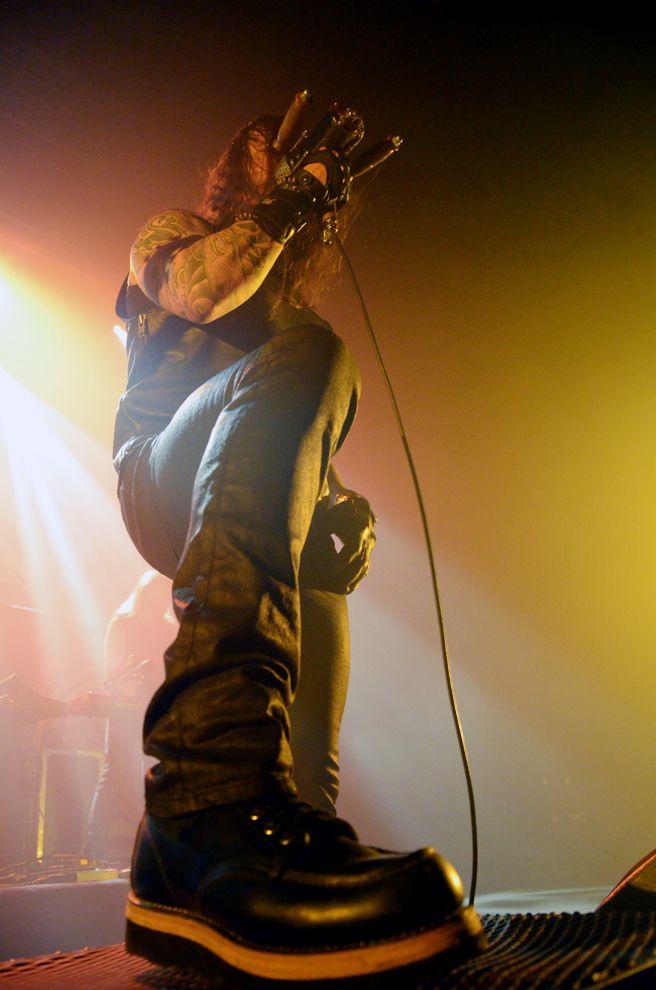 Tomi Joutsen (Amorphis), le Cargö. Caen, le 22 novembre 2015 © JB Quentin