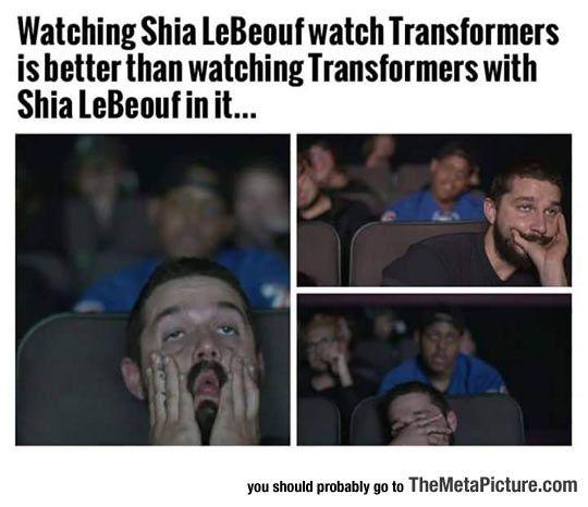 Shia LaBeouf Watching Transformers