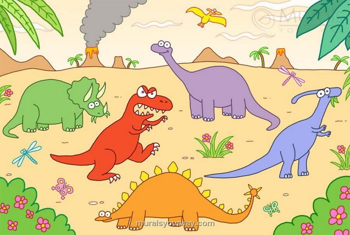 46 best dinosaur themed kids rooms images on pinterest for Dinosaur mural ideas