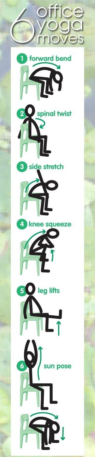 6 office chair yoga moves