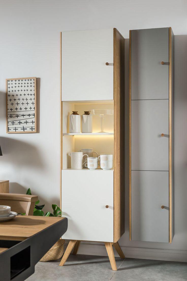 Witryna (Dąb/biały, Dąb, Biały) - Nature - Typy mebli - Wnętrza VOX #vox #wystrój #wnętrze #aranżacja #urządzanie #inspiracje #projektowanie #projekt #remont #pomysły #pomysł #design #room #home #meble #pokój #pokoj #dom #mieszkanie #jasne #oryginalne #kreatywne #nowoczesne #proste #wypoczynek #HomeDecor #fruniture #design #interior #naturalne #szafa