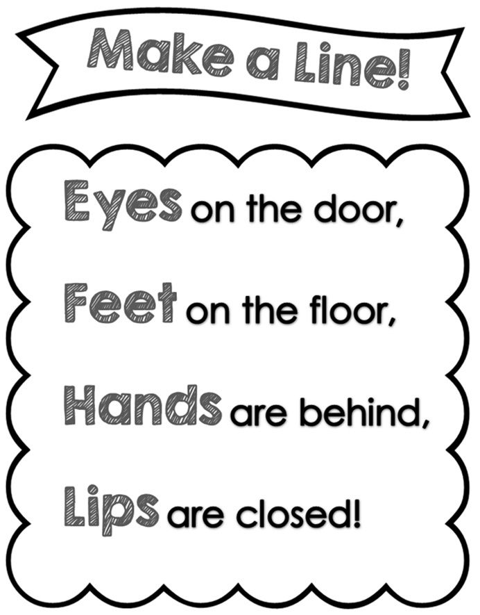 Do you want a fun way of teaching how to line up? I love this chant and have decided to turn it into a printable to display it in the class...