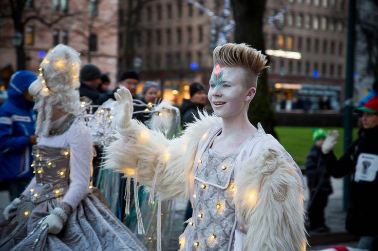 Helsinki, Finland. Opening of Christmas Street 2013. Photos by artofpics.com. #white #Christmas #costume #elves #fairies #Helsinki