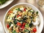 Mediterranean Pork and Orzo Recipe | Taste of Home
