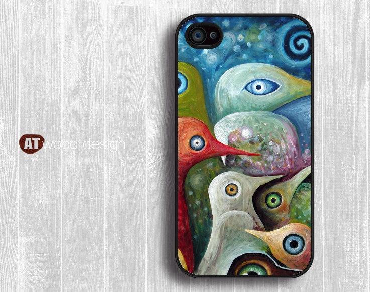 penguin painting iPhone case