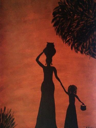 femme et fillette africaine