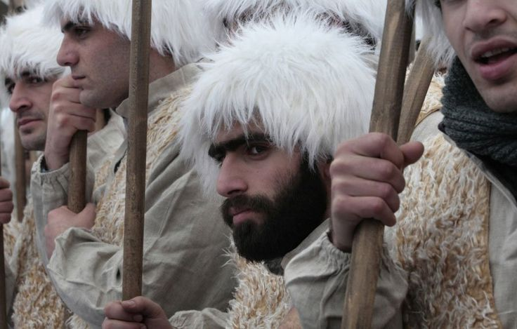 Men dressed as shepherds take part in a religious procession to mark the Orthodox Christmas in Tbilisi, Georgia, Friday, Jan. 7, 2011    Read more: http://www.businessinsider.com/pictures-orthodox-christmas-2011-1?op=1#ixzz1inepVPHF