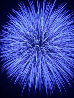 Blue starburst fireworks