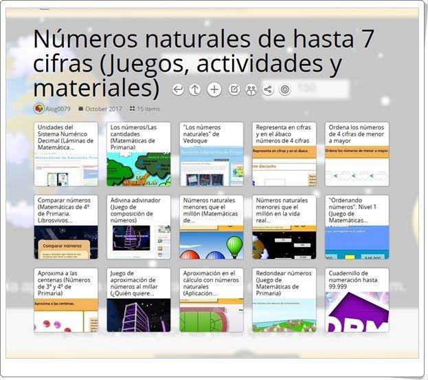 15 Juegos Actividades Interactivas Y Materiales Para El Estudio De Los Números Naturale Actividades Interactivas Actividades De Matematicas Numeros Naturales