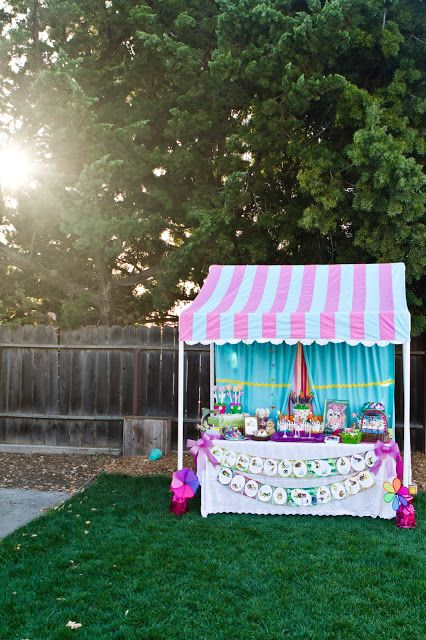 { Miss Party Mom's } How-To PVC Canopy Tutorial.................Reduce scale for shaded Lemonade stand for kiddos