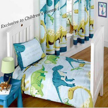 Dinosaur Facts Curtains In 54 And 72 Inch Blue Http Www