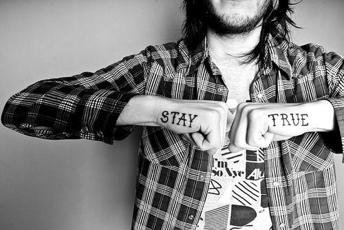 tatsStay True Tattoo, Awesome Tattoo, Quotes, Typographic Tattoo, Body Art, Music Tattoo, Hands Tattoo, Tatoo, Ink