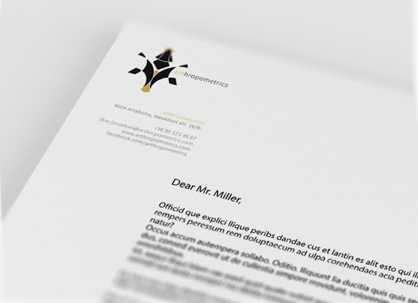 Arthropometrics corporate identity by Koliber , via Behance