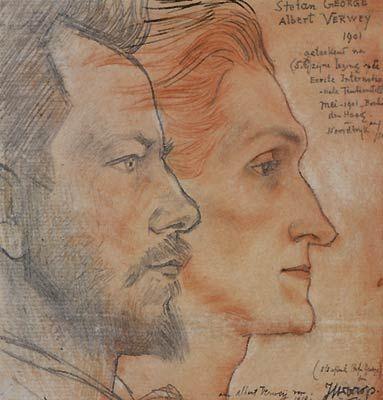 Jan Toorop, Albert Verwey en Stefan George, 1901