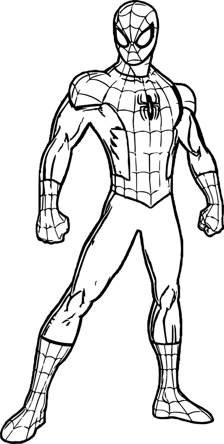Spiderman Suit Coloring Page in 2020 | Superhero coloring ...
