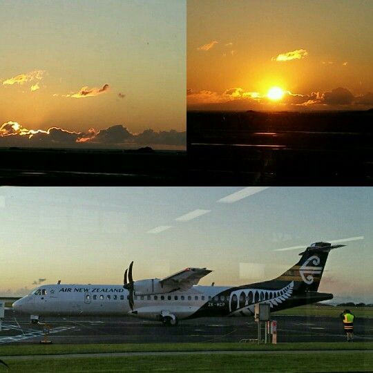 Sunset at New Plymouth Airport