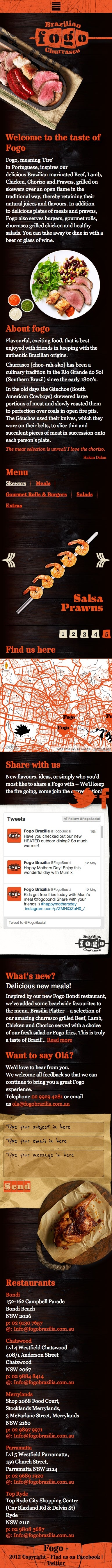 we did this for fogo's mobile version of their website