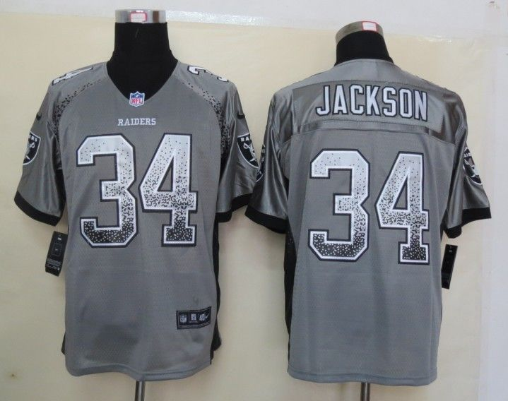 timeless design f8fb5 e3fb0 nike oakland raiders 34 bo jackson 2013 gray vapor kids jersey