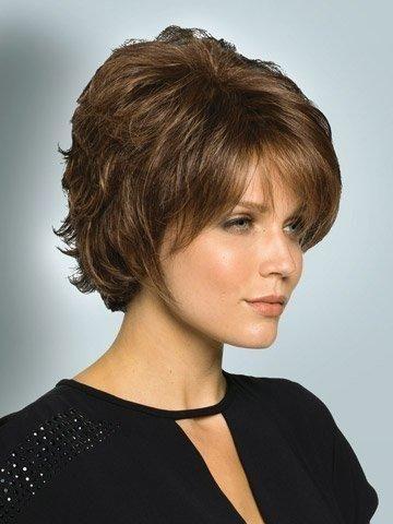 Marian Sw0129 Fashion Hairstyles Short Kanekalon Hair Wigs for Women 3 Colors  a Wig Cap (brown)