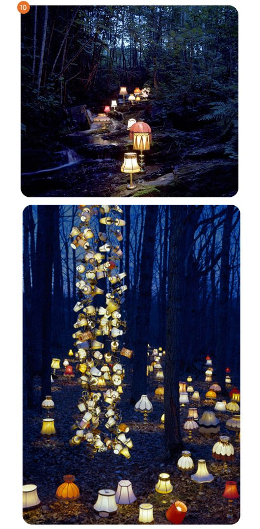 outdoor lighting. My husband and I wanted to have lighting like this at our outdoor reception...never got around to creating it sadly.