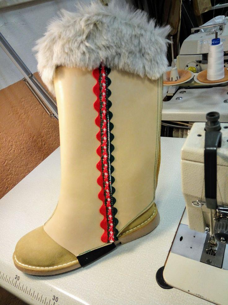 Cubrebotas Papá Noel. Inspiración nórdica #confección #sewing #costumes #navidad