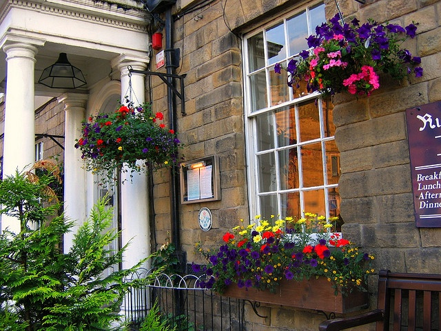 The Rutland Arms Hotel in Bakewell, Derbyshire by UGArdener, via Flickr - UK