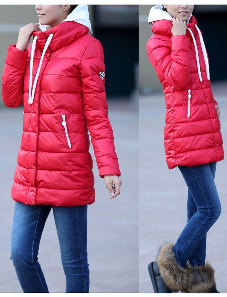 Бесплатная доставка Новое прибытие Мода зима дамы Длинные вниз ветровки, пальто и пиджаки Теплые куртки для женщин US089 размер США понижающий и парки от A. ..